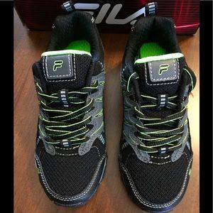 Fila sneakers. Black and neon green